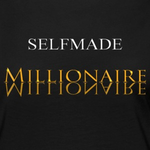 Self Made Millionaire or - T-shirt manches longues Premium Femme