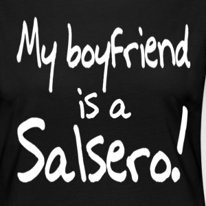 My boyfriend is a Salsero - Dance Shirts - Women's Premium Longsleeve Shirt