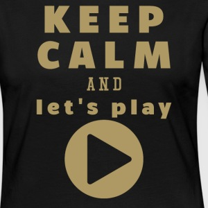 Keep Calm And Let's Play - Frauen Premium Langarmshirt