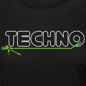Techno turntable - Frauen Premium Langarmshirt