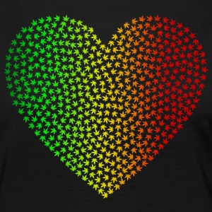 Rasta Weed Love - T-shirt manches longues Premium Femme