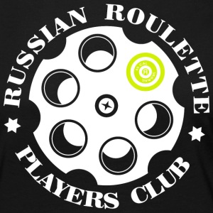 Russian Roulette Players Club logo 4 Sort - Premium langermet T-skjorte for kvinner