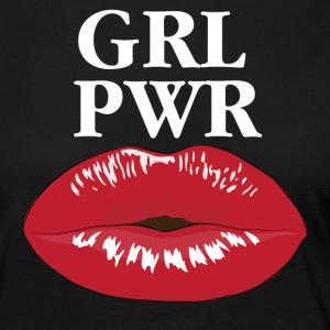 GRL PWR Power Girl Kiss T-shirt - Vrouwen Premium shirt met lange mouwen