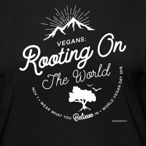 Vegans: Rooting On The World - Women's Premium Longsleeve Shirt