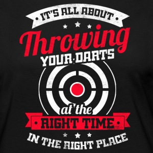 All about throwing your darts at the right time - Frauen Premium Langarmshirt
