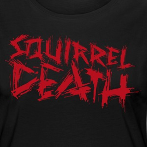 Squirrel DEATH - Logo rød - Premium langermet T-skjorte for kvinner
