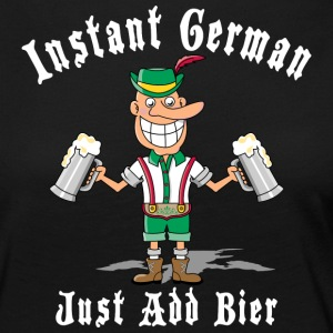 Instant tysk Just Add Bier Beer - Premium langermet T-skjorte for kvinner