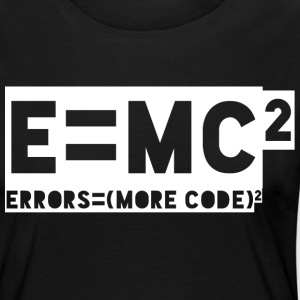 E = mc2 - errors = (more code) 2 - Women's Premium Longsleeve Shirt