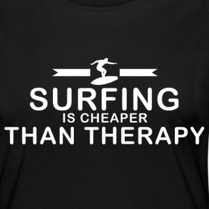 Surfing is cheaper than therapy - Women's Premium Longsleeve Shirt