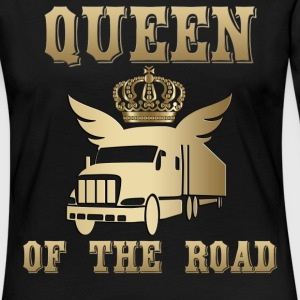 Queen of the Road Queen of the Road! - Koszulka damska Premium z długim rękawem