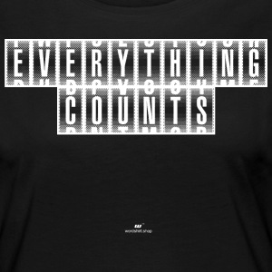 Everything Counts wit - Vrouwen Premium shirt met lange mouwen