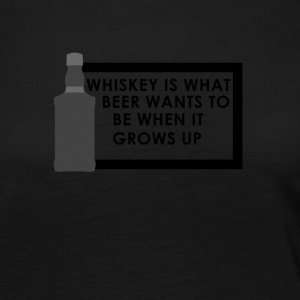 Whiskey is what beer wants to be When it grows up - Women's Premium Longsleeve Shirt