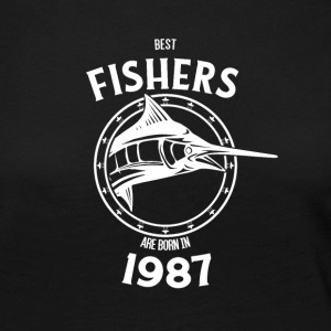 Present for fishers born in 1987 - Women's Premium Longsleeve Shirt