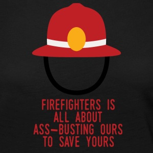 Fire Department: Fire Fighters is all about ass-busting - Women's Premium Longsleeve Shirt