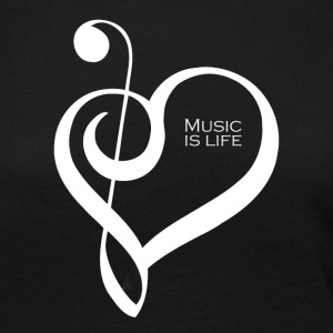 Music is life ! - T-shirt manches longues Premium Femme