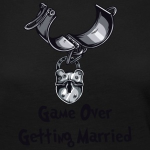 Game Over Getting Married - Dame premium T-shirt med lange ærmer