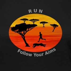 Run Follow your aims, Afrika - Frauen Premium Langarmshirt