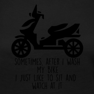 Biker / motorcycle: Sometimes, after i wash my bike - Women's Premium Longsleeve Shirt