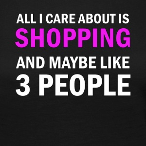 All I Care About is Shopping - Långärmad premium-T-shirt dam