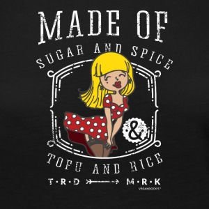 Pin-Up Girl - Vegan Sugar and Spice, Tofu and Rice - Women's Premium Longsleeve Shirt