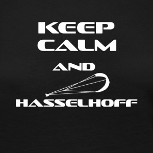Kitesurfing Keep Calm and Hasselhoff - Premium langermet T-skjorte for kvinner