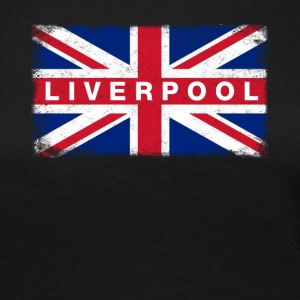 Liver Pool Shirt Vintage United Kingdom Flag - Långärmad premium-T-shirt dam