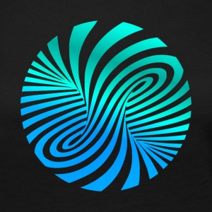 Psychedelic optic illusion turquoise optical art 60er - Women's Premium Longsleeve Shirt