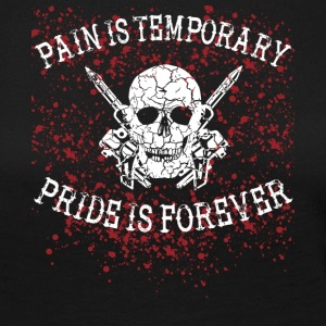 Pain is temporary tattoo tätowiert needle nadel - Frauen Premium Langarmshirt
