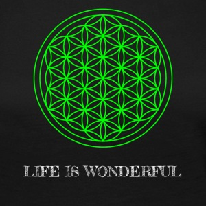 Flower of Life. Life is wonderful. - Women's Premium Longsleeve Shirt