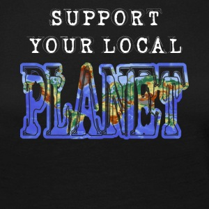support local Planet save earth rettet die Welt - Frauen Premium Langarmshirt