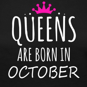 Queens are born in October - Women's Premium Longsleeve Shirt