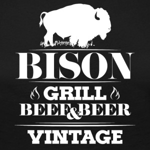 Grill · Barbecue · Bison · Vintage - T-shirt manches longues Premium Femme