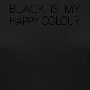 black_is_my_happy_color - Dame premium T-shirt med lange ærmer