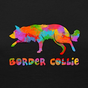 Border Collie Rainbow sky - Långärmad premium-T-shirt dam