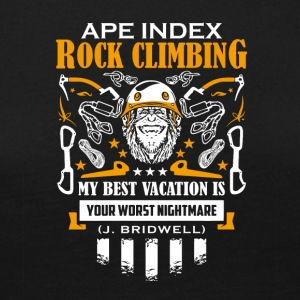 ApeIndex Rock Climbing Orange - Dame premium T-shirt med lange ærmer