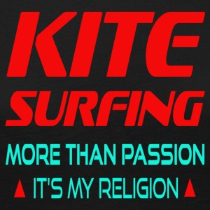 KITESURFING - MORE THAN PASSION ITS MY RELIGION - Frauen Premium Langarmshirt