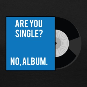 Single: Er du singel? Nei, album. - Premium langermet T-skjorte for kvinner