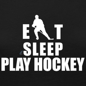 Eat Sleep Play Hockey Hockey - Frauen Premium Langarmshirt