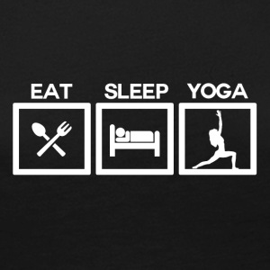 Eat Sleep Yoga - Cycle - Dame premium T-shirt med lange ærmer