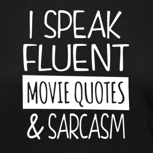 Movie quotes en sarcasme - Vrouwen Premium shirt met lange mouwen