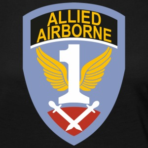 First Allied Airborne Army - Dame premium T-shirt med lange ærmer