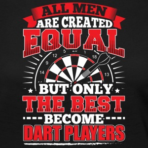 DARTS - ALL MEN ARE CREATED EQUAL - DART PLAYERS - Women's Premium Longsleeve Shirt