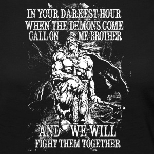 In your darkest hour call on me (hell) - Frauen Premium Langarmshirt