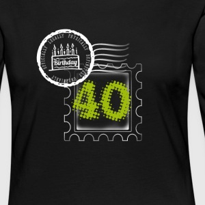 pie 40th birthday gift stamp Post - Women's Premium Longsleeve Shirt