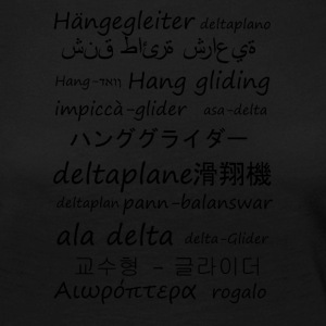 Hang gliding in several languages - Women's Premium Longsleeve Shirt