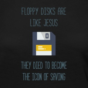 Floppy disks are like Jesus - Maglietta Premium a manica lunga da donna