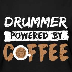 Drummer supported by coffee funny saying - Women's Premium Longsleeve Shirt