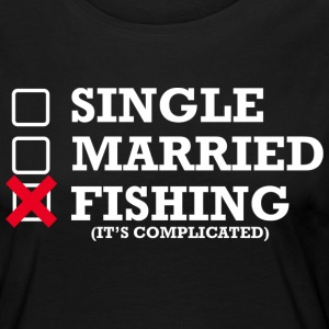 Single, Married, Fishing - Frauen Premium Langarmshirt