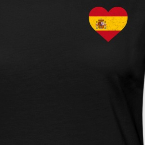 Spain Flag Shirt Heart - Spanish Shirt - Women's Premium Longsleeve Shirt