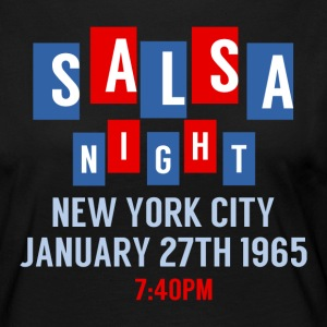 Salsa Night New York - Danse skjorter - Premium langermet T-skjorte for kvinner
